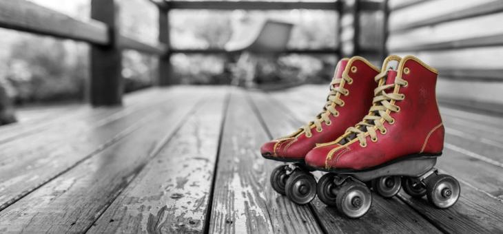 懐かしいローラースケート