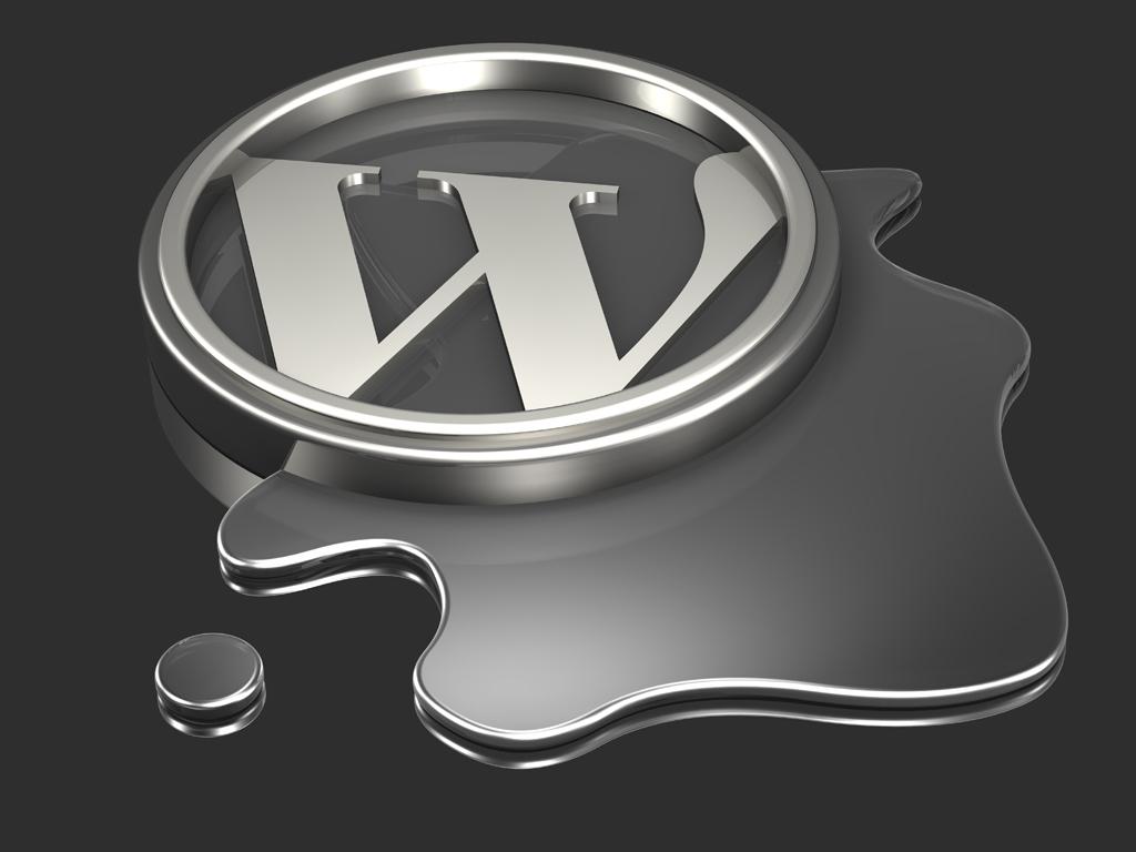 Melting WordPress Logo